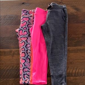 Bundles athletic works leggings and pants size:4-5